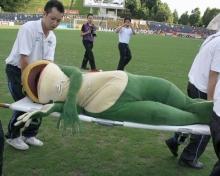 疲れたカエル